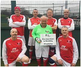 Fleetwood Town Flyers in FA Peoples Cup Walking Football 2017