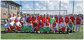 Fleetwood Town Flyers playing Trinity Hospice charity match
